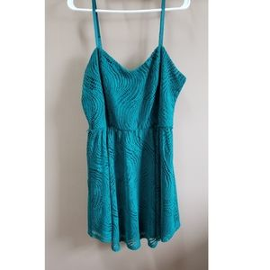 Teal Lace Maurices Dress